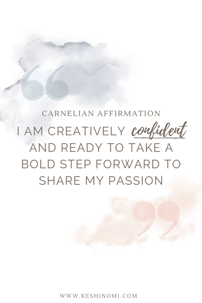 Carnelian affirmation, crystal meanings