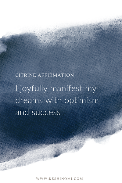 Citrine affirmation, crystal meanings