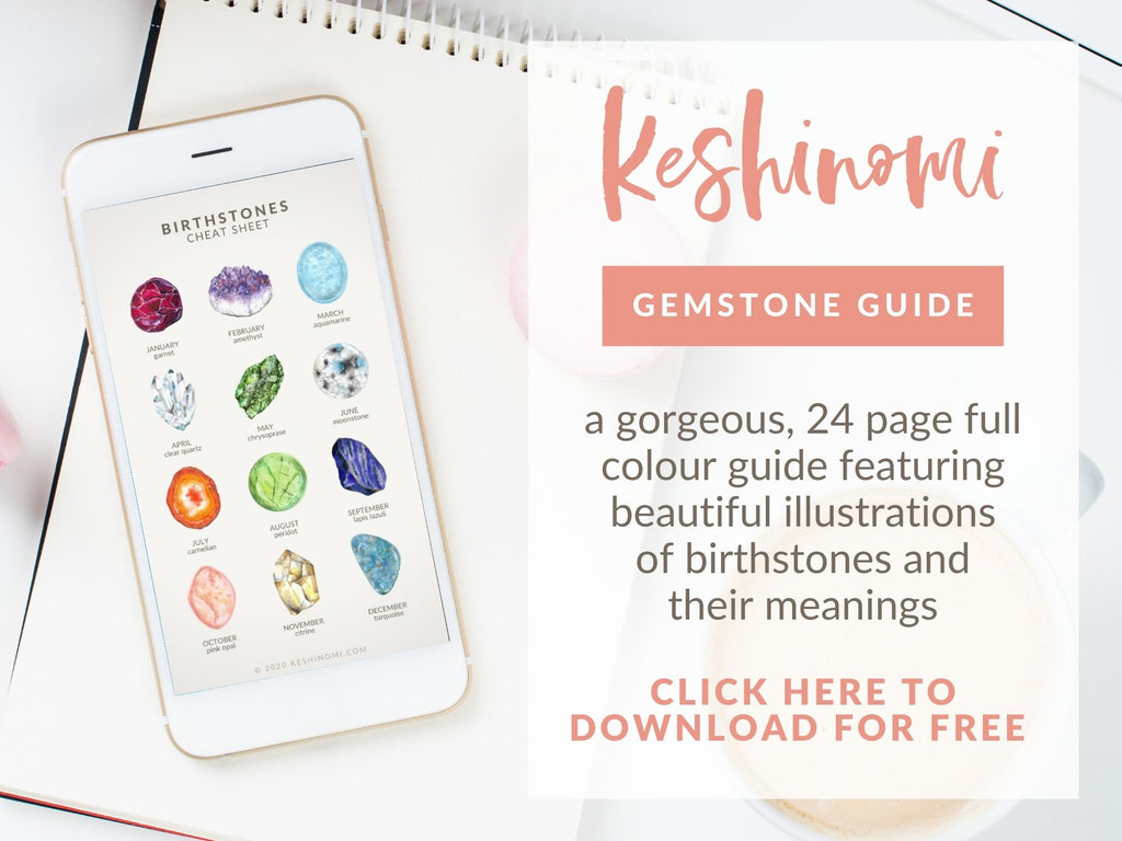 Free gemstone guide to birthstones and meanings