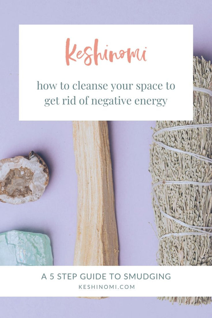 How to clear negative energy with sage smudge