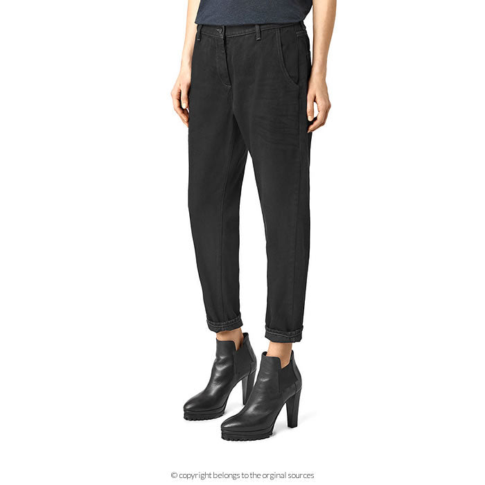 Allsaints' relaxed fit chino style black jeans