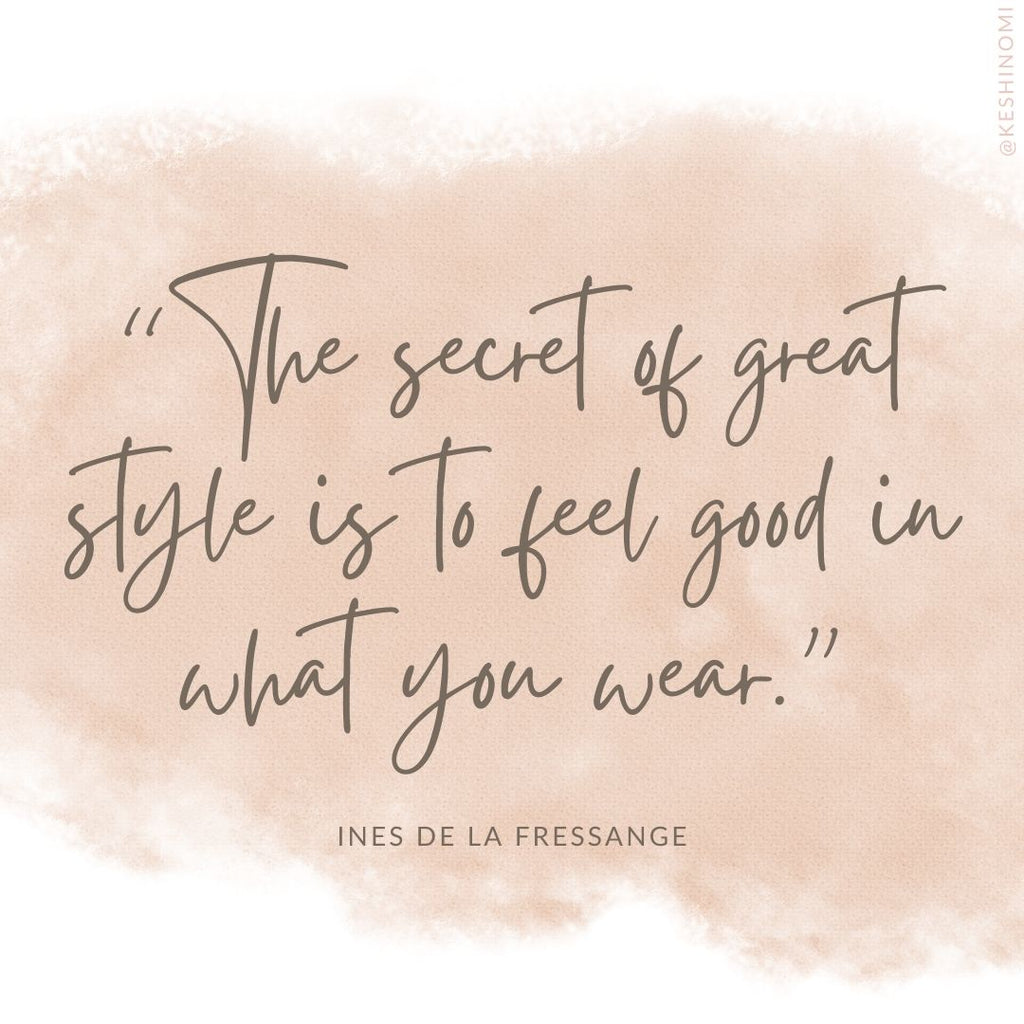 The secret to great style quote