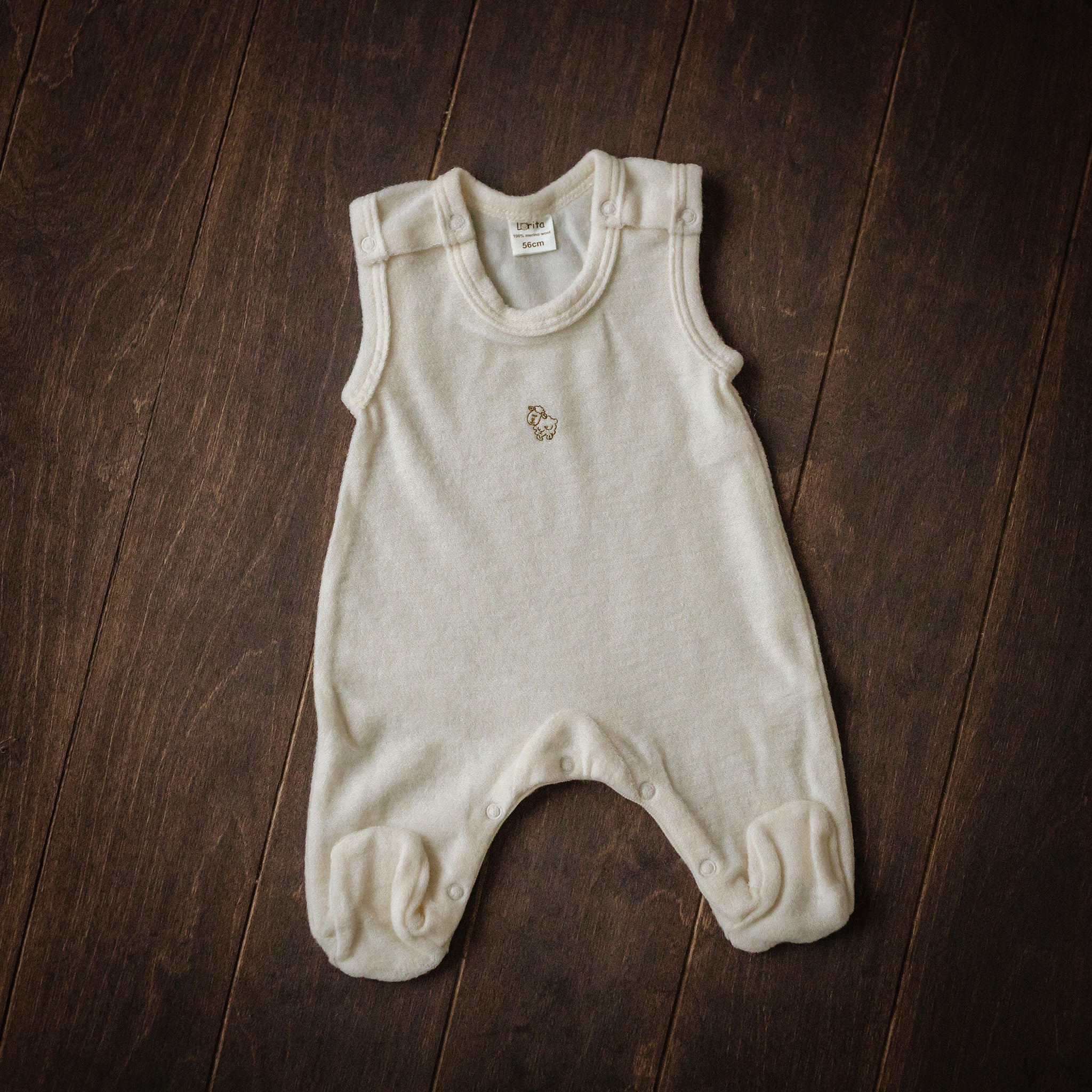 Natural Merino Wool Terry Dungarees