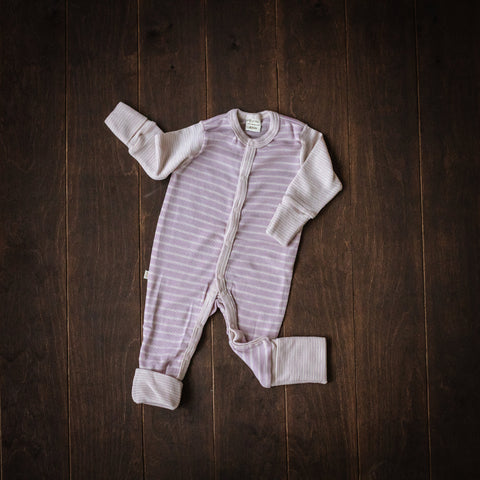 Violet Striped Merino Playsuit