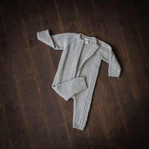 Superfine Grey Merino Playsuit