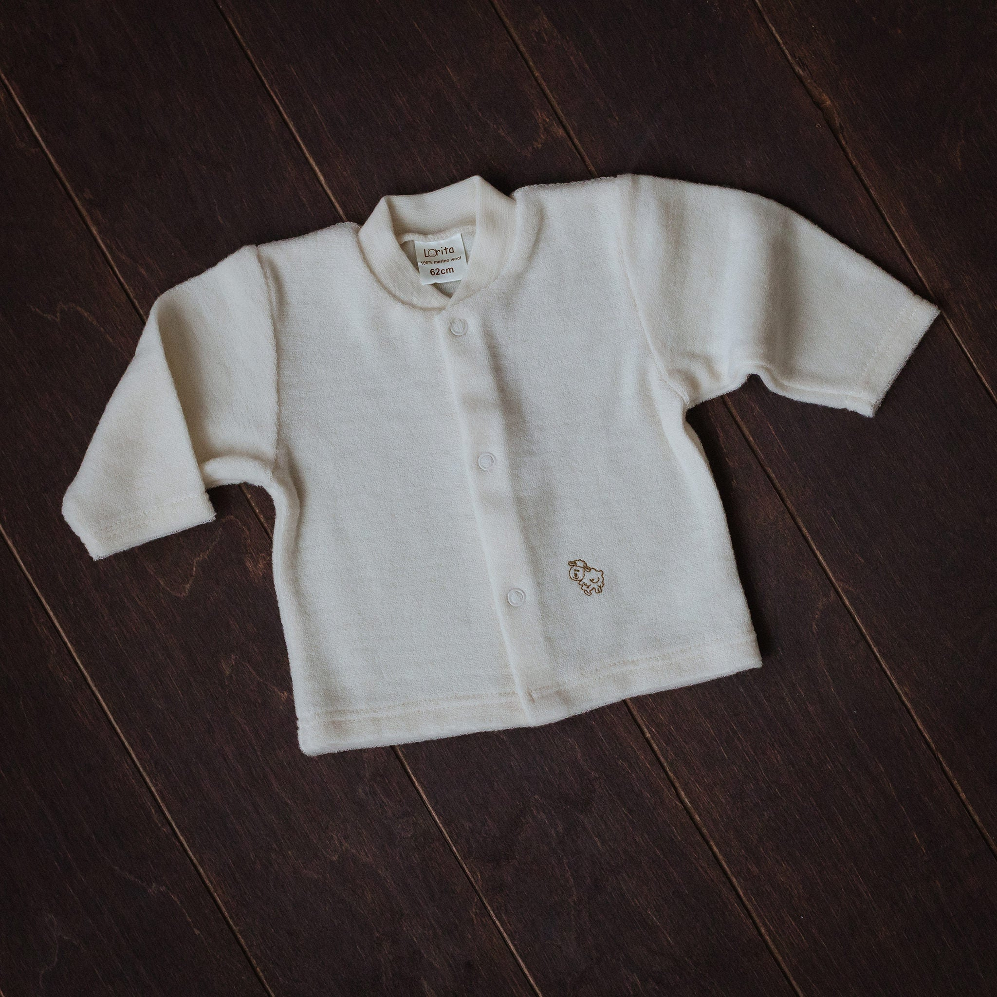 Natural Merino Wool Terry Shirt