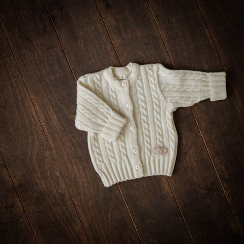 Natural Superfine Merino Knitted Cardigan