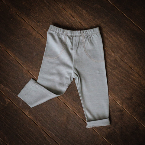 Grey Merino-mix Pants