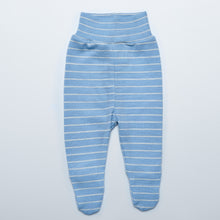 Blue Striped Merino Pants with Feet
