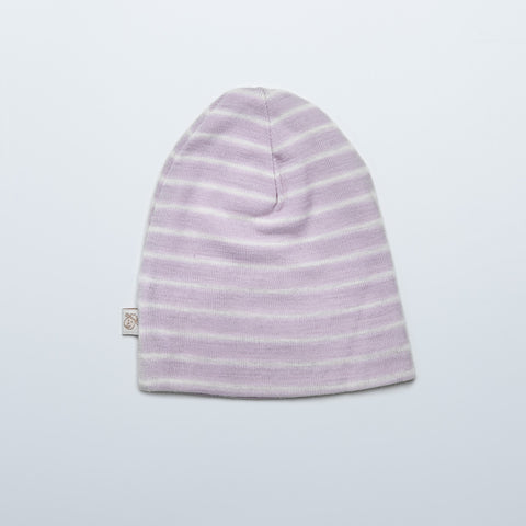 Violet Striped Merino Cap