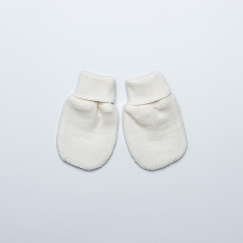 Natural Merino Wool Terry Mittens