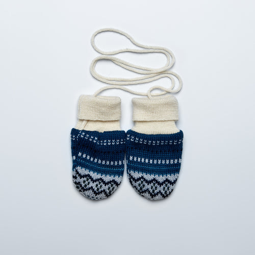 Patterned Warm Merino Mittens