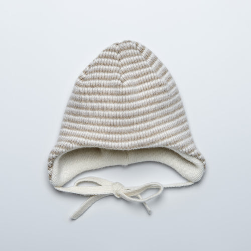 Brown Striped Superfine Merino Knitted Hat