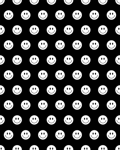 Happy Face - Wallpaper - White / Black