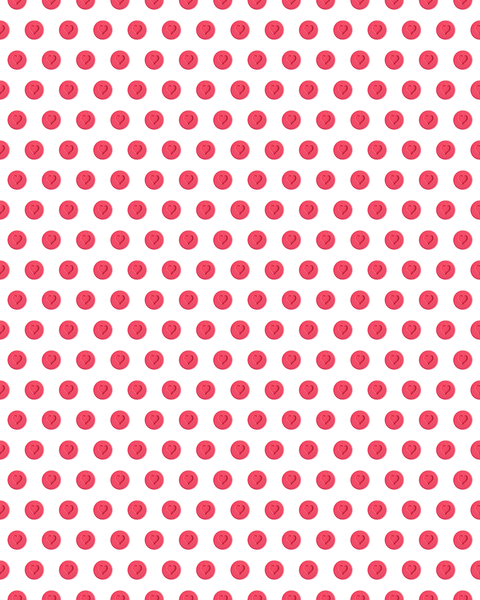 Love Heart - Little Fellas - Wallpaper - White / Red