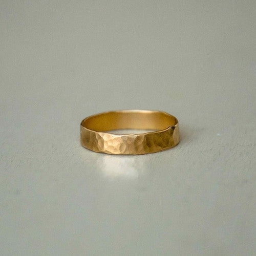 george - 14k hammered man ring
