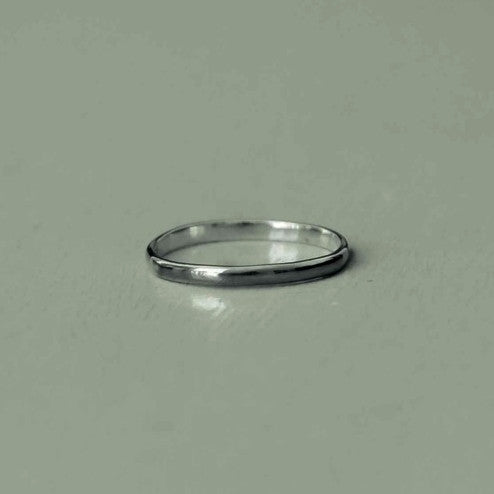 gabriel - white gold classic man ring