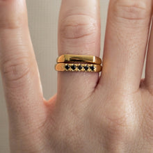 kitty - flat front ring with diamonds