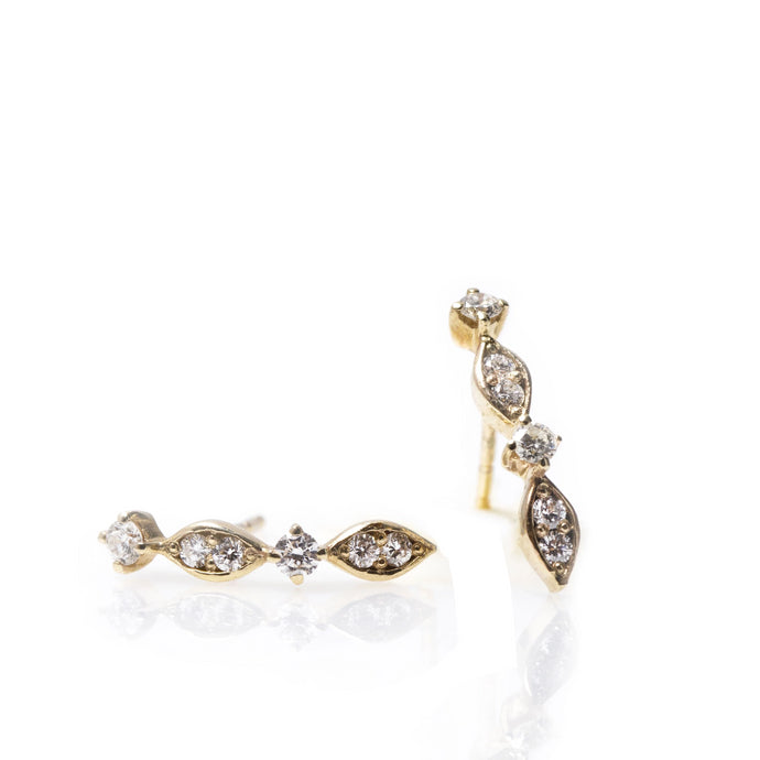 aurora - 14k gold & diamond earrings