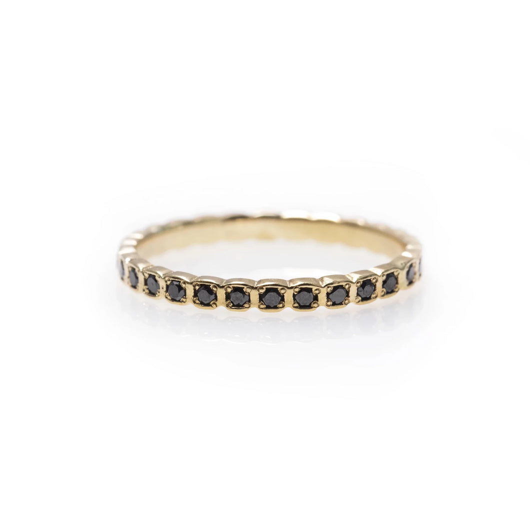 claude - black diamond eternity ring