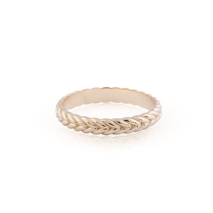 jules - braided wedding band