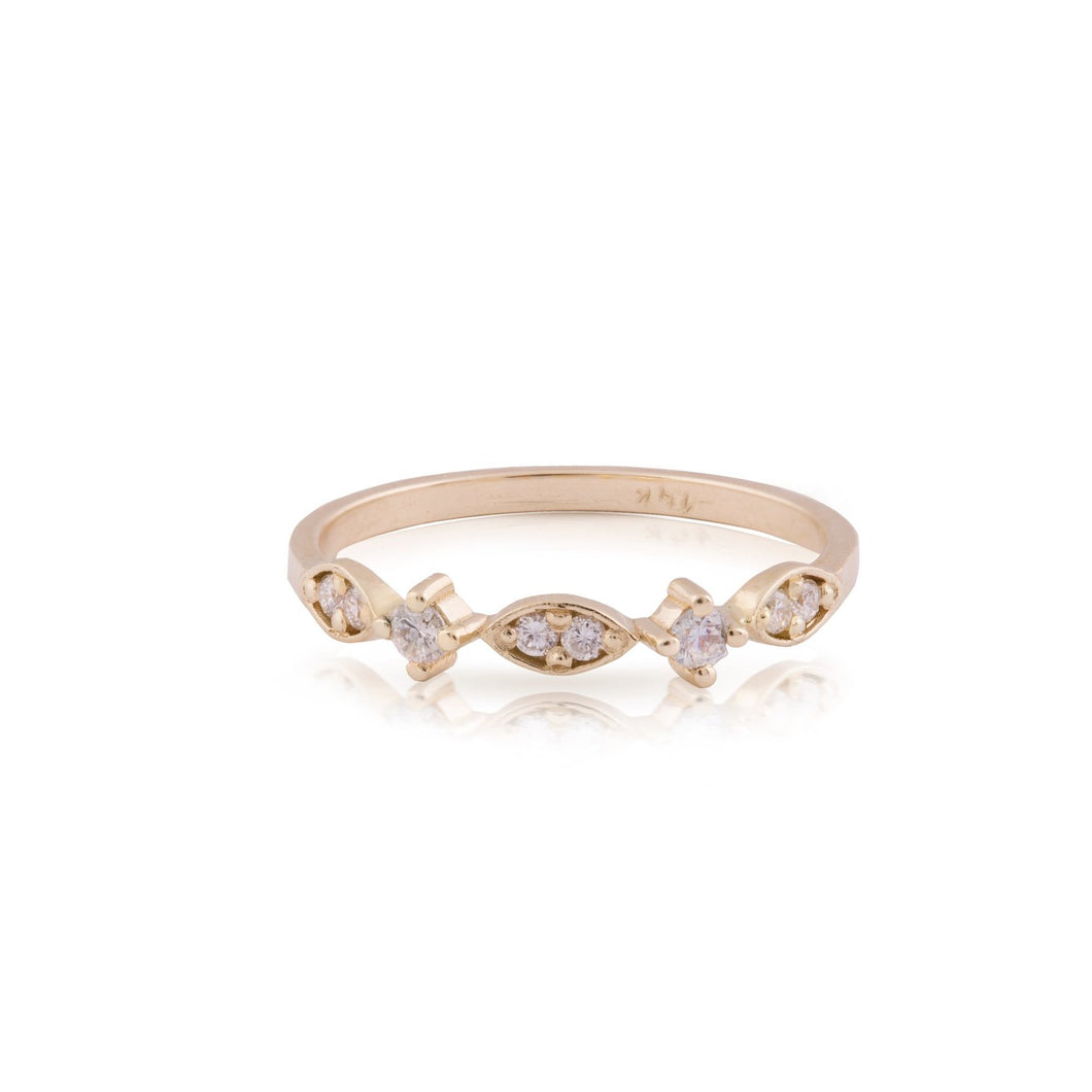 dana - art deco diamond ring