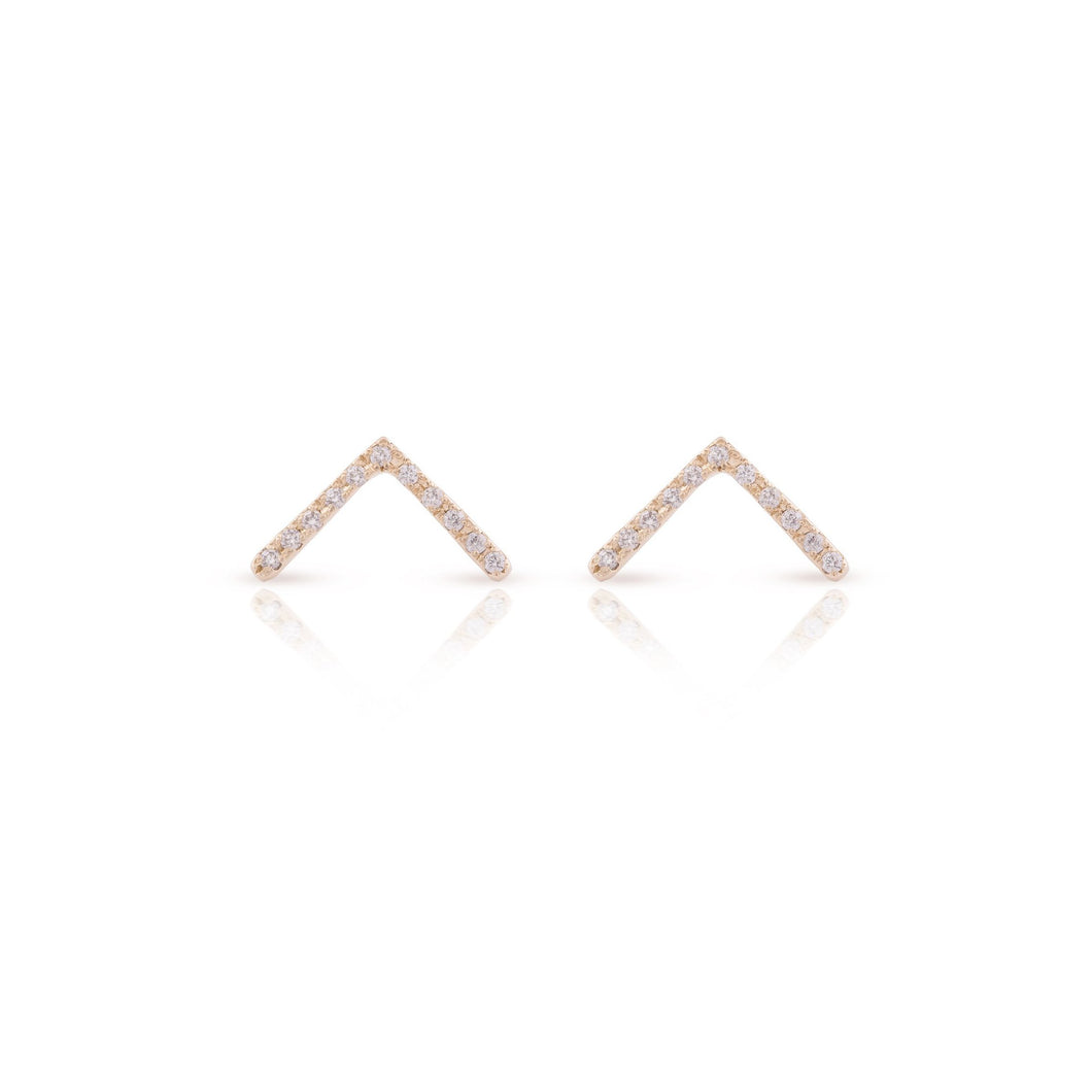 thin vivi - 14k gold & diamonds earrings