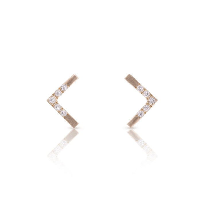 grand vivi - 14k gold & diamonds earrings