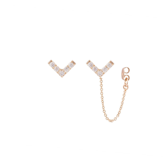 mini vivi - 14k gold & diamonds earrings