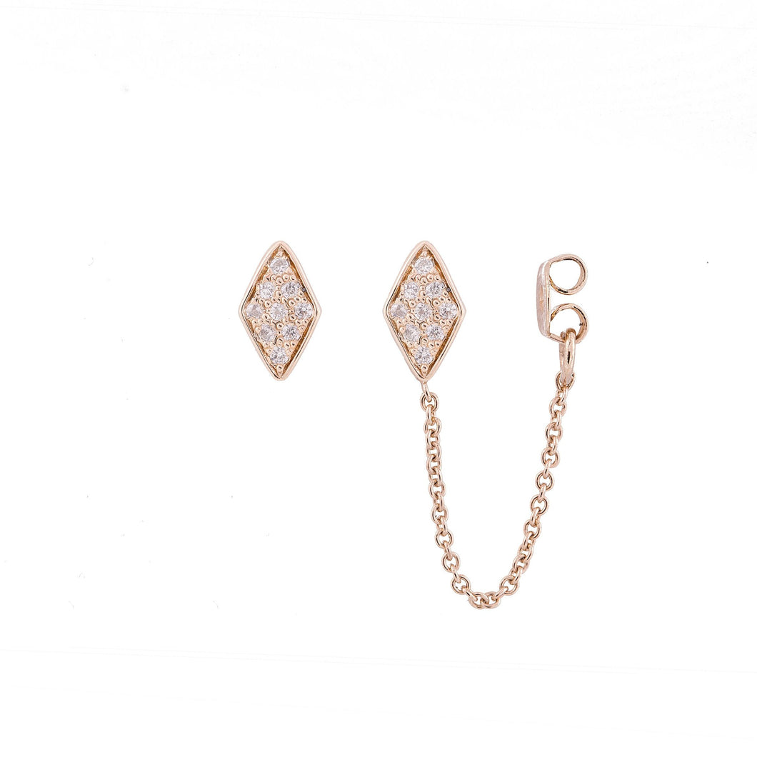 lucile - gold plated earrings