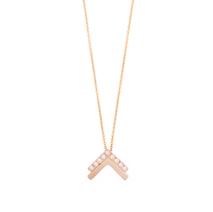double vivi necklace - 14k & diamonds