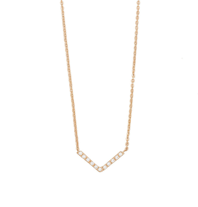 vivi light necklace - 14k & diamonds