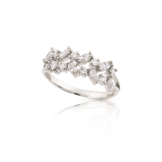 lyn - art deco leaves ring