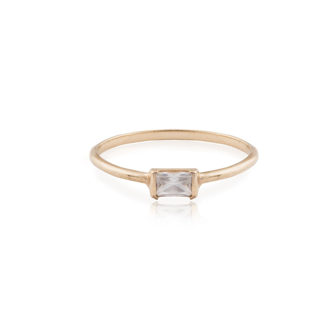 agnes - baguette diamond ring