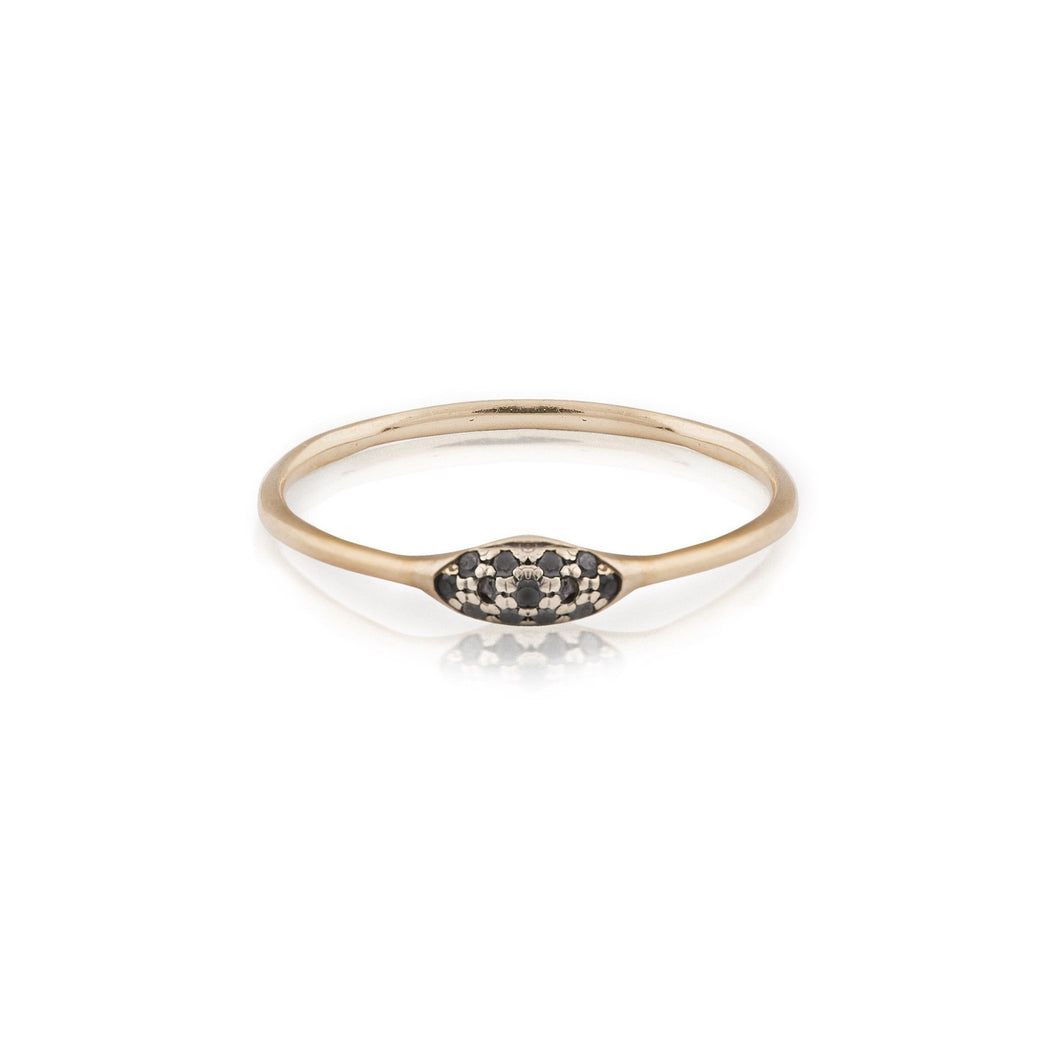 jane - studded thin hill ring