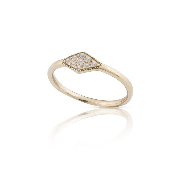 lucile - rhombus diamond ring