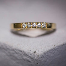 shani - five diamond straight ring