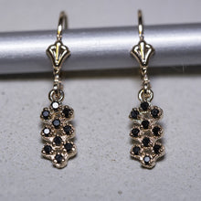 Load image into Gallery viewer, kim - clear stones dangle bee hive earring