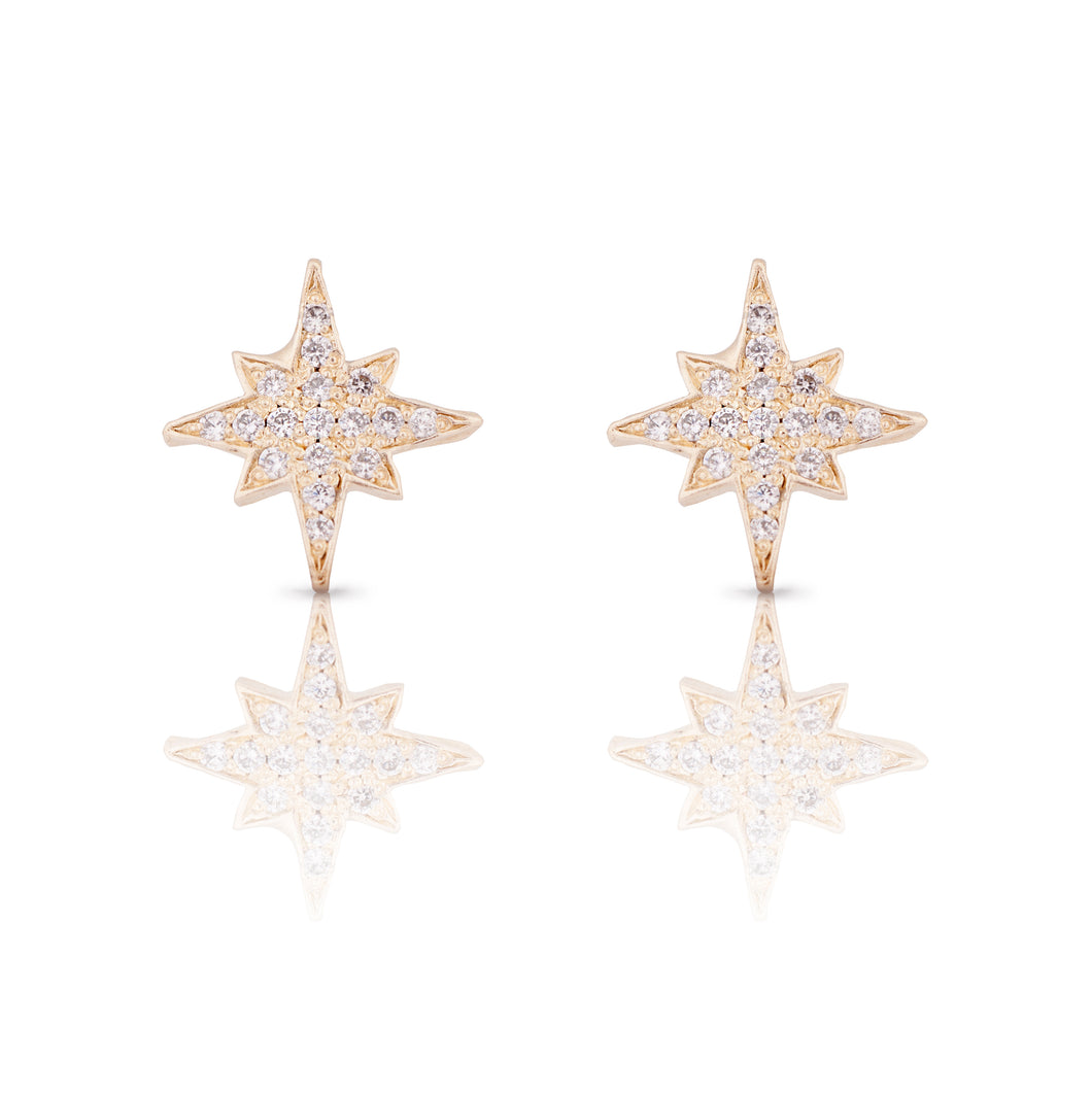 estrea -  14k & diamonds earring