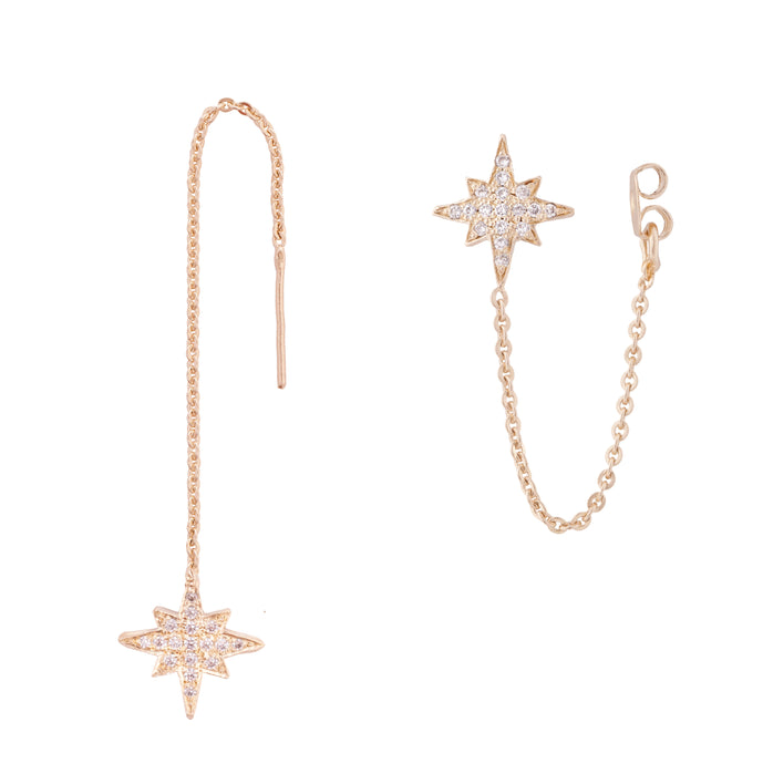 estrea - gold plated hand made earring