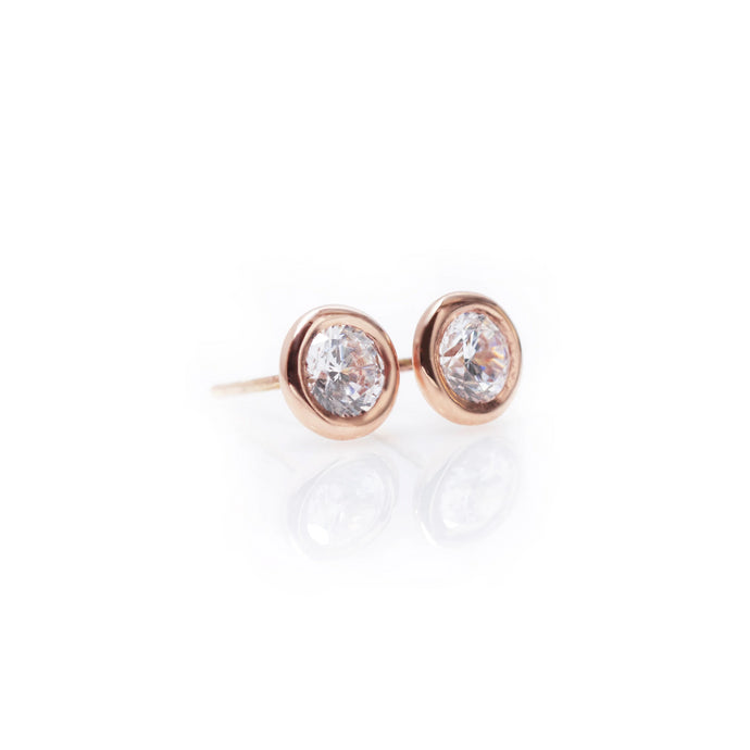 gilles - 14k & diamond earrings