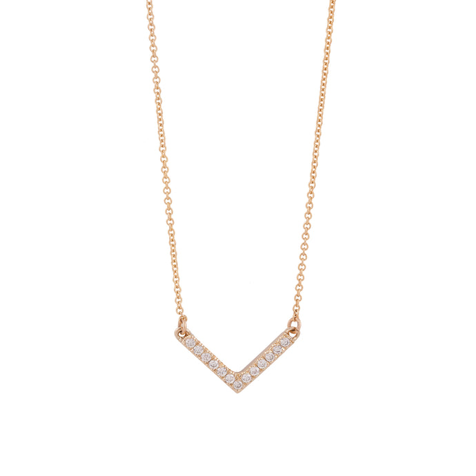 vivi necklace - 14k & diamonds