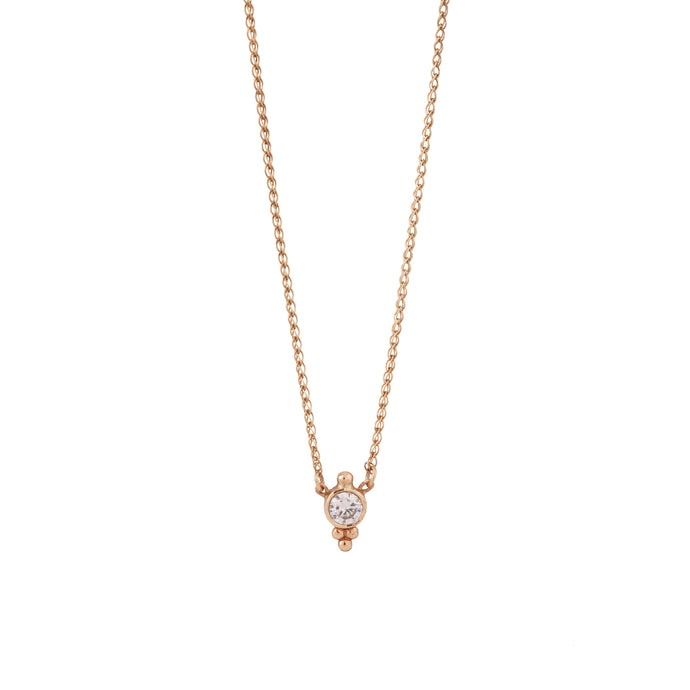 lee necklace - 14k & diamond