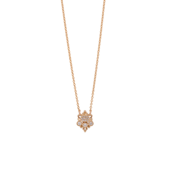 sara necklace - 14k & diamonds