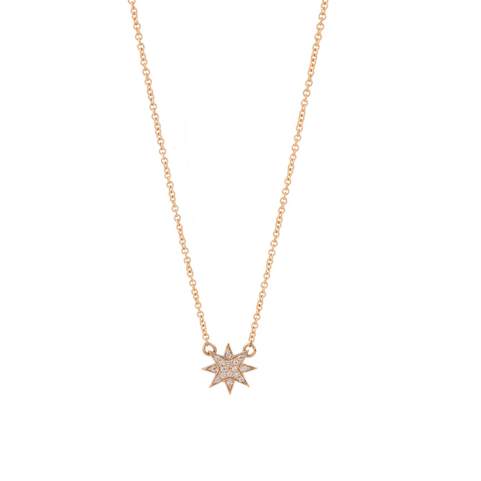 stella necklace - 14k & diamonds