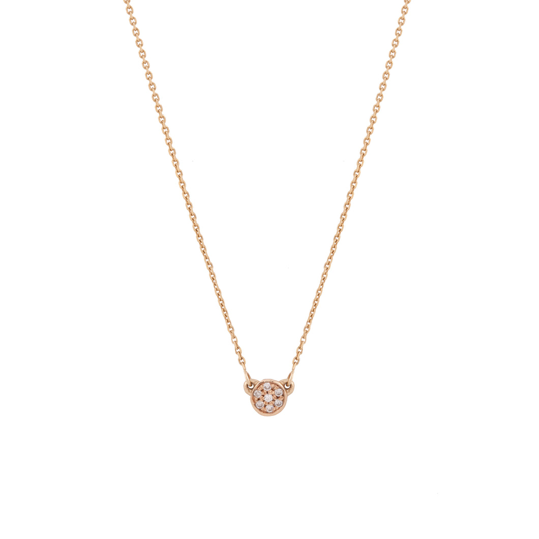 regina necklace - 14k & diamonds