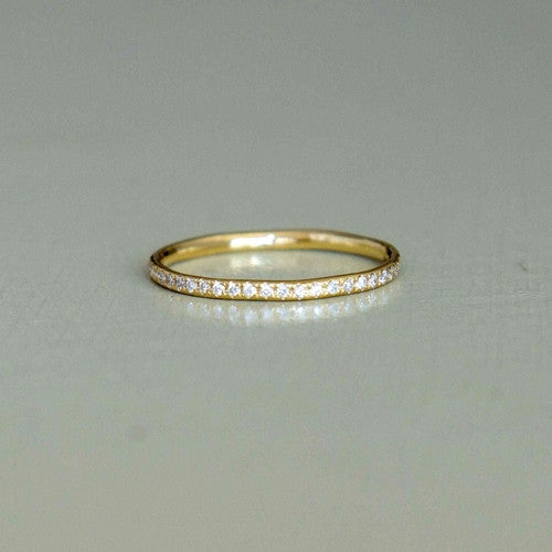 venus - yellow gold diamond eternity ring