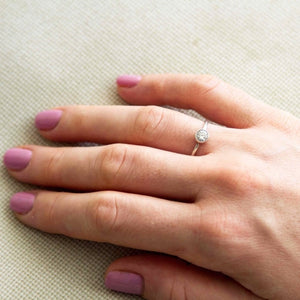 donna - solitaire diamond ring