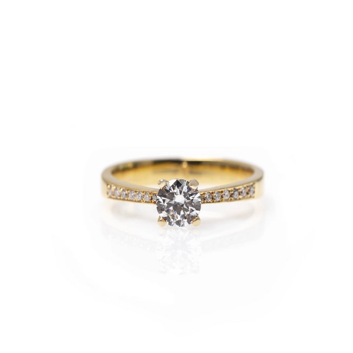 jeanne - 14k gold & diamond ring