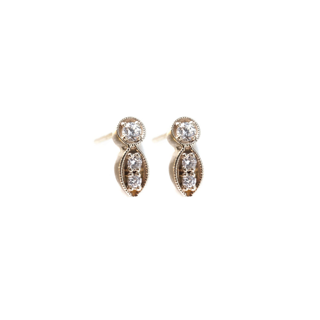 mila - 14k gold & diamond earrings